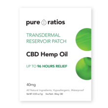 Pure Ratios - 4 day (water resistant) Transdermal CBD Patch x1